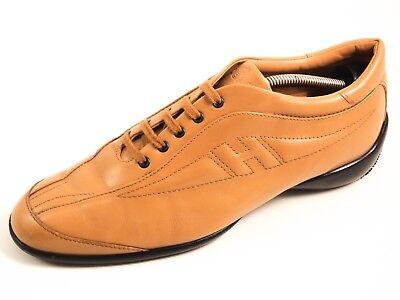 HOGAN fashion sneakers, beige leather, women's shoe size EU 39 US 8.5 $380