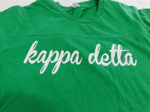 Kappa Delta Jersey Green & White SORORITY Size Small
