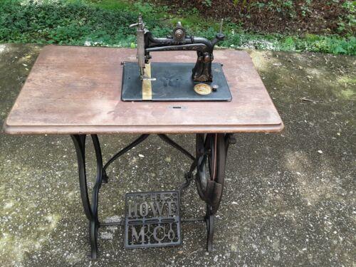 Antique Elias Howe Treadle Sewing Machine 1876 Serial #617014 Good Condition