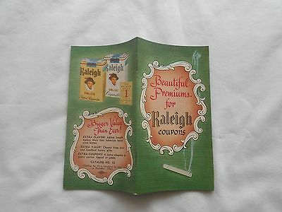 1956 RALEIGH CIGARETTE BEAUTIFUL PREMIUMS FOR RALEIGH COUPONS  CATALOG # 12