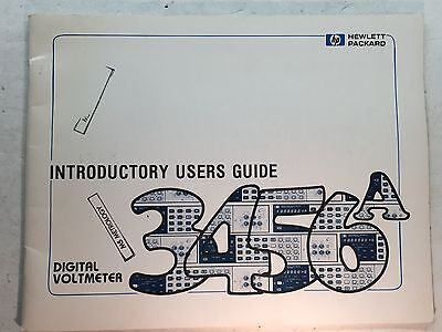 Hp 3456a Digital Voltmeter Introductory Users Guide Pn 03456-90002