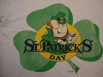 Vintage St. Patrick's Day Decotex Apparel Holiday White Cotton T Shirt Size L](St Patrick's Day Apparel)