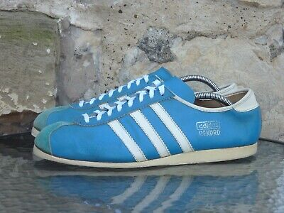 Vintage 1970s Adidas Rekord UK 9 Made In Roumania Blue White 70s 80s Rare