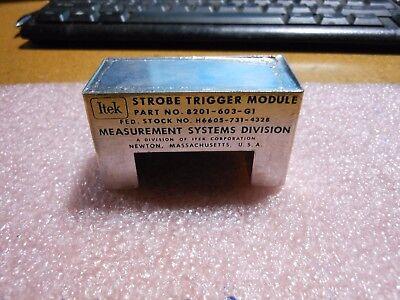 Itek Measurement Sys. Strobe Trigger 8201-603-g1 Nsn 6605-00-731-4328