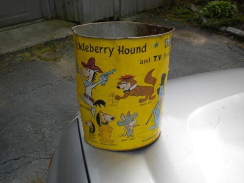 Vintage  Quick Draw, Huckleberry Hound, Yogi Bear   BABA LOOEY     Trash  Can