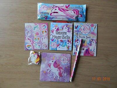 Unicorn! Party bag toys! 7 items! Activity set! (Unicorn Items)