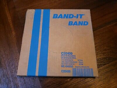 """100 Bandit Clamps 13//16"""" X 3//8"""" J301 Quanity 100 NOS USA Band It"""
