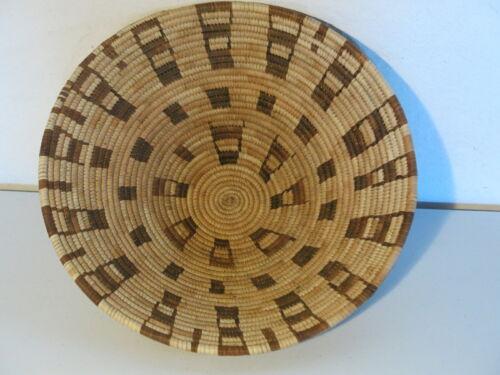 Pima Woven Grass Geometric Design Basket ca 1920