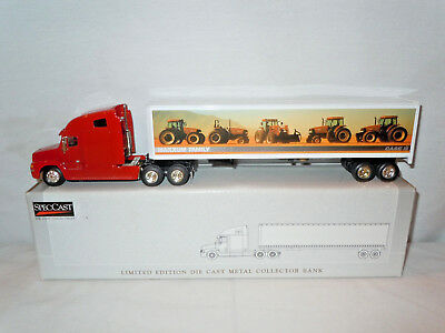 Case IH Maxxum Family Freightliner Semi Bank By SpecCast 1/64th Scale  !