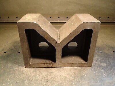 8 X 4 X 5-12 High Cast Machinist Round Work Set-up V-block 4-12w X 2h Vee