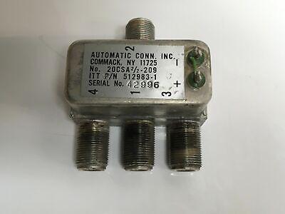 Automatic Connector Itt 512983-1 20csa22-209 N Rf Power Splitter Combiner