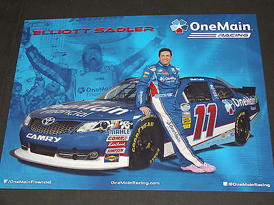 2013 Elliott Sadler  11 Onemain Financial Nascar Postcard