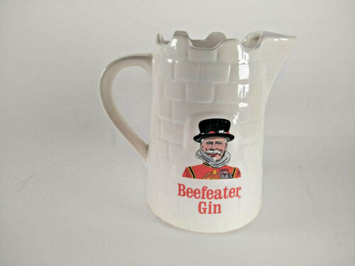BEEFEATER Gin Castle Ceramic Pitcher Stein Mug Wade England Bar Kobrand Vintage