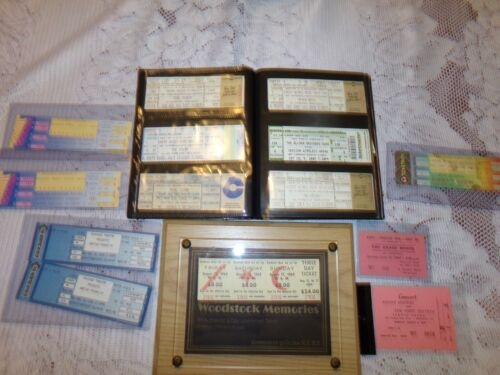 Lot of vintage concert tickets 90 + mostly rock and roll  some country