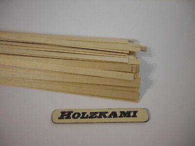 Holzleisten  Ahorn. 100 Stück. 300mm x 6mm x 0.6mm  L/B/H  Neu
