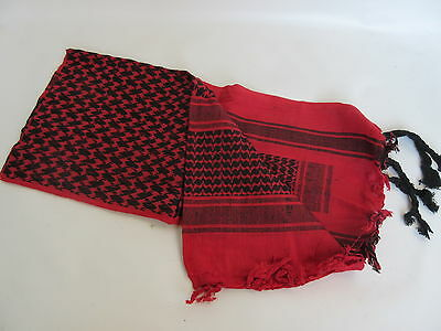 Palestinian Scarf - Plo Scarf Scarf Palestinian Shemagh Red/Black Camo Scarf Army Red Black