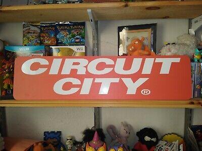 """Circuit City Sign, Circuit City 24""""x6"""" Display."""