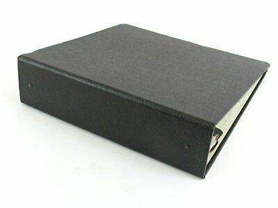 Vintage Spmrobinson Reminders 3-ring Binder Black Pebbled Faux Leather 2 14