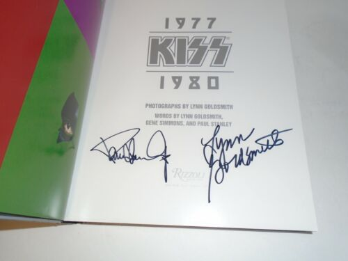 KISS PAUL STANLEY & LYNN GOLDSMITH 1977-1980 AUTOGRAPHED SIGNED BOOK  -  PHOTOS