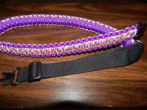 Rifle Gun  Slings handmade with 550 Paracord with swivels, adjustable