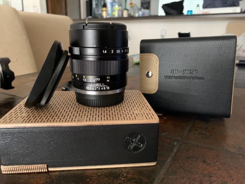 Mitakon Zhongyi Speedmaster 35mm F/0.95 Mark II Lens Fuji Fujifilm X MINT