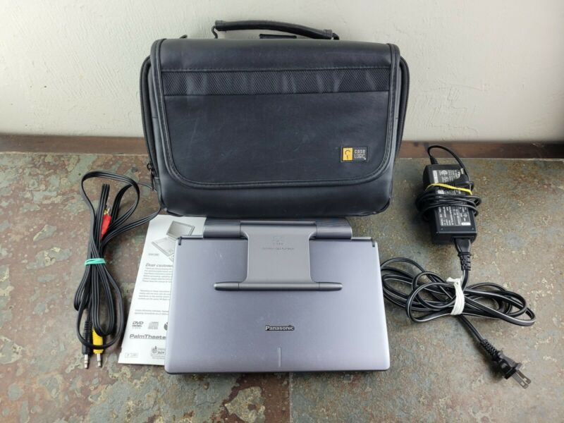 """Panasonic DVD-LS90 Portable DVD Player (9"""") Bundle With Charger & Case"""