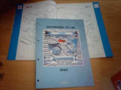 Ford Crash Parts Catalogue Granada 1977 to 1985  inc RS