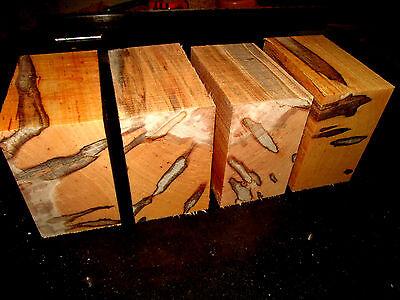 Four  4  Kiln Dried Ambrosia Maple Bowl Blanks Lumber Wood Lathe 6 X 6 X 3
