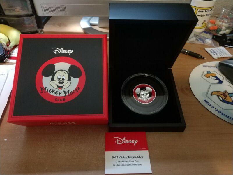Disney Mickey Mouse Club Ultra High Relief 2oz Silver Coin 2020 Niue