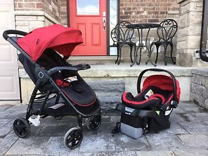 Step and Go stroller and infant car seat