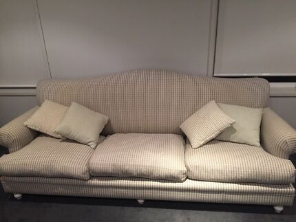 Domayne 3 seater sofa with additional cushions