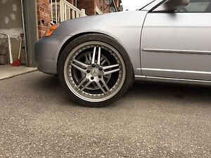 """5x112 icon rims 19"""" with tires"""