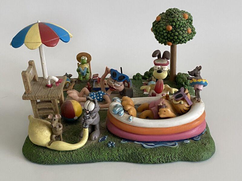 Danbury Mint Garfield's Poolside Resort Figurine By Jim Davis