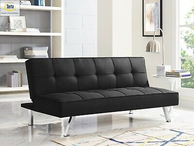 Futon Sofa Bed Sleeper Convertible Couch 3 Seat Foldable Full Size With -