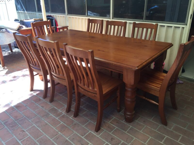 wooden dining furniture. Excellent Condition Solid Wooden Dining Table With 8 Chairs | Tables Gumtree Australia The Hills District - Baulkham 1181663513 Furniture