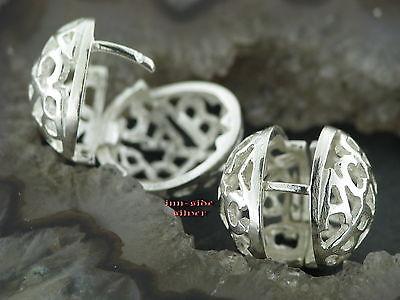 Ohrringe KLAPPCREOLEN Silber 925 Ohrschmuck Große klappscharnier Creolen KUGEL online kaufen
