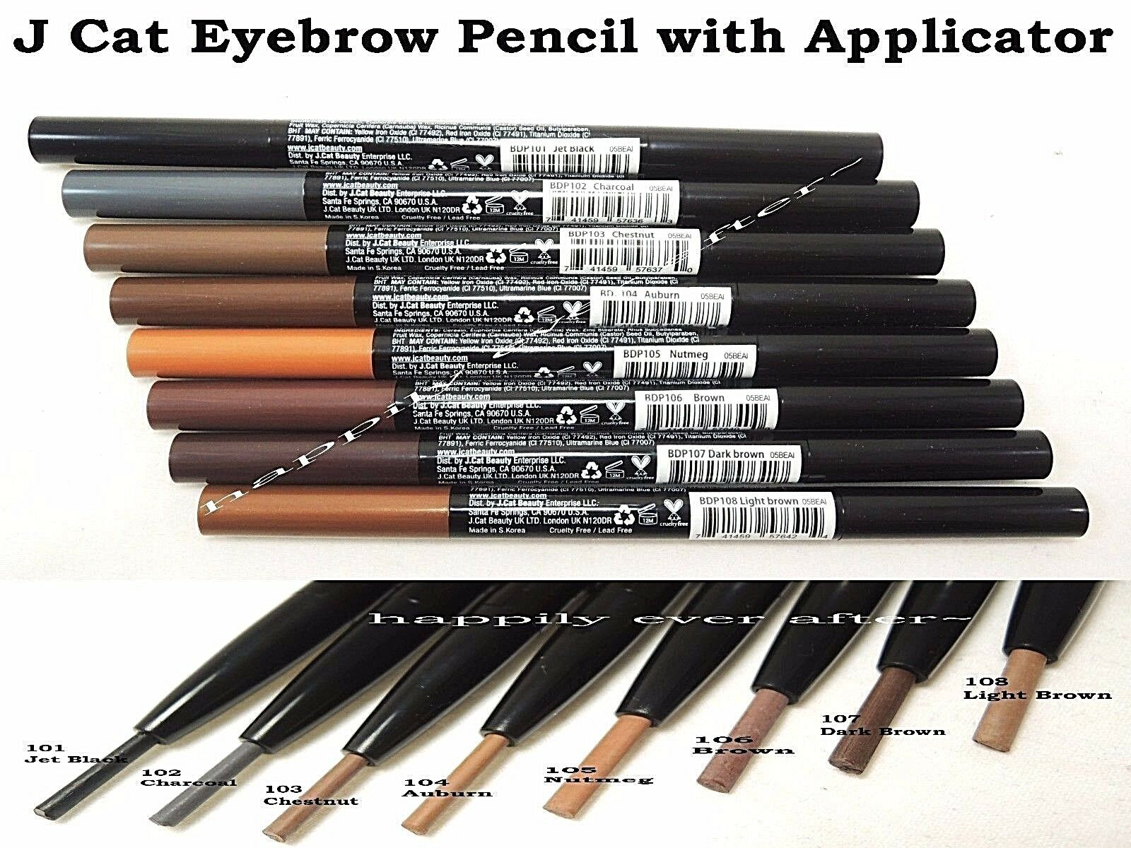 J Cat Eyebrow Pencil - Automatic Pencil - LEAD FREE *US SELL