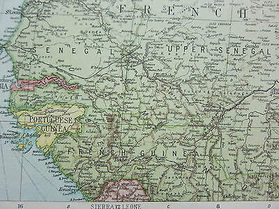 1919 LARGE MAP ~ AFRICA NORTH WEST ~ SAHARA LIBYA ALGERIA