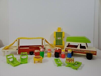 Vintage Fisher Price Little People #992 Pop-Up Camper Complete, #5