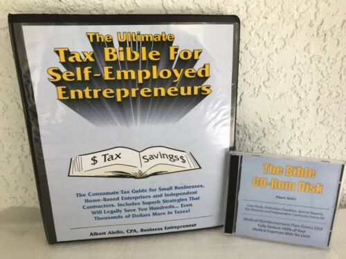 THE UTIMATE TAX BIBLE FOR SELF-EMPLOYED ENTREPRENEURS BY ALBERT AIELLO - 12 CDS!