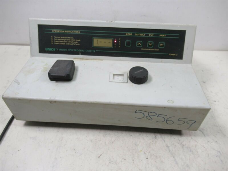Unico 1100RS Spectrophotometer Benchtop Laboratory Device