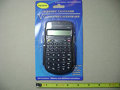 Battery Powered 56 Function Scientific Calculator with 10 Digit Display (NEW)