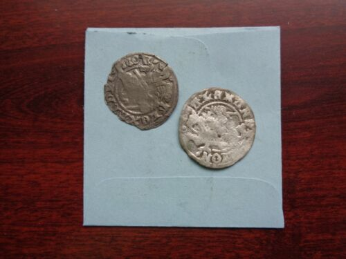 Medieval Europe 2 silver coins lot
