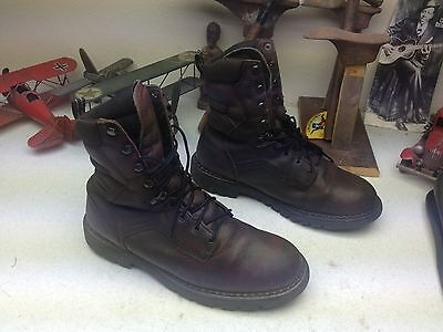 DISTRESSED BROWN RED WING LEATHER DIRTY OLD TRAIL BOSS BOOTS LACE UP WORK 12 EE