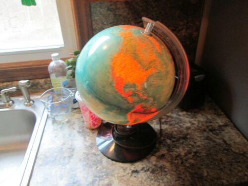 "Vintage Lighted Globe 1982 Rand McNally Physical Political Globe 12"" USSR World"