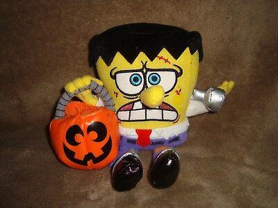 Frankenstein SpongeBob SquarePants W/Pumpkin Frankford Candy Plush 2006 - Frankenstein Spongebob