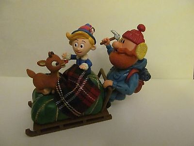 2004 Carlton Cards YUKON'S YULETIDE GREETING Ornament Lights & Sound Rudolph