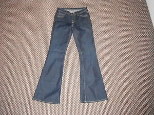 Ware-Denim-Bootcut-Size-8-Leg-31-Faded-Dark-Blue-Ladies-Jeans