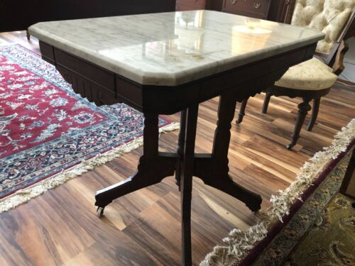 Antique Eastlake-Style Marble-top table