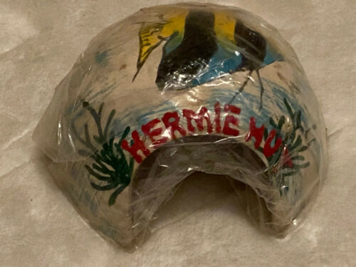 New FMR Hermie Hut Hermit Crab Coconut Hut House Natural Reptile Hide Out